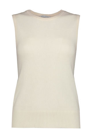 Essential Sleeveless Crewneck Off White