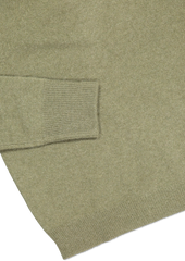 Hemline and sleeve detail image of White & Warren Essential Sweatshirt Olive Heather