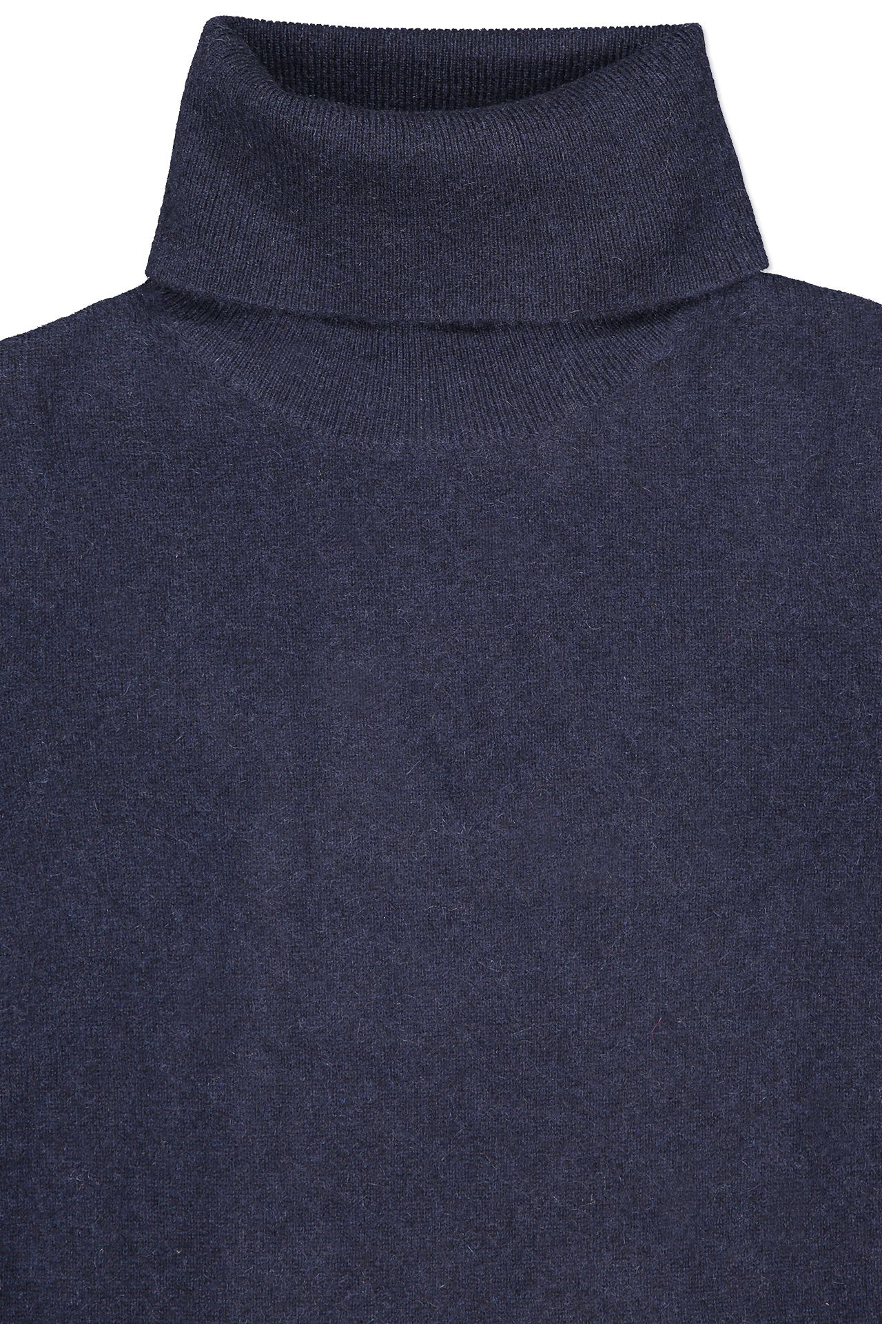 Front collar detail image of White & Warren Essential Turtleneck Sweater Deep Navy