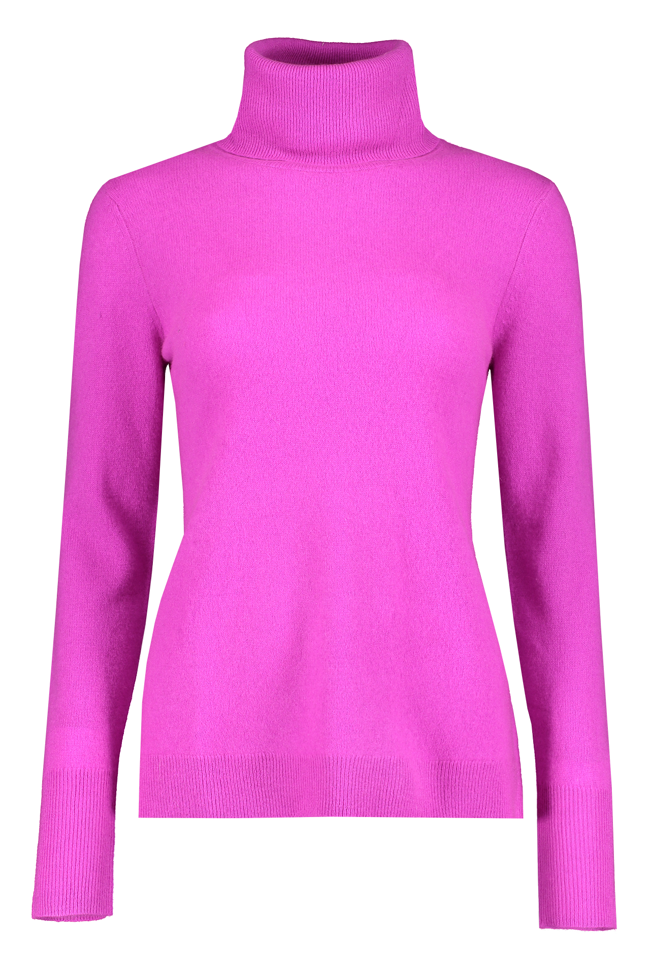 Front view image of White & Warren Essential Turtleneck Sweater Pink