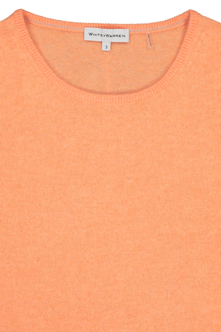 Long Slim Open Crewneck Orange