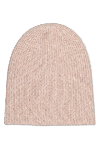 Front image of White & Warren Women's Plush Rib Beanie Chinchilla