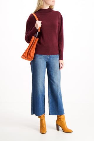 Puff Sleeve Standneck Sweater
