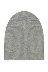 Image of White & Warren Reversible Plush Rib Beanie Grey/Neon