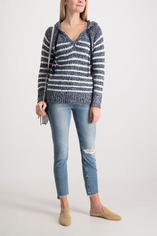 Speckled Striped Hoodie
