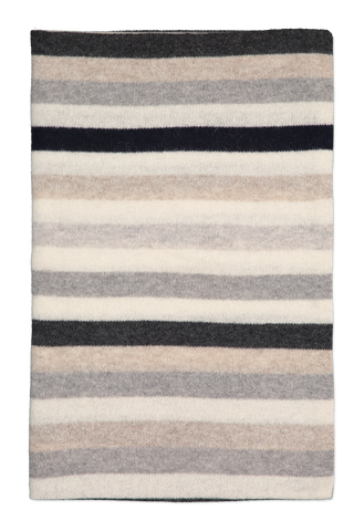 Image of White & Warren Striped Scarf Grey Combo