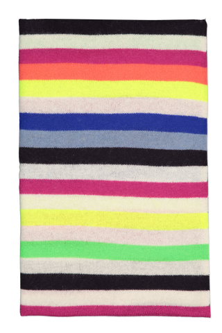 Image of White & Warren Striped Scarf Neon Combo