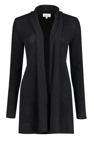 Front view image of White & Warren Trapeze Cardigan Black