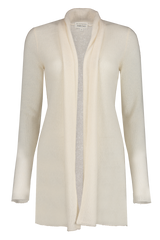 Front view image of White & Warren Women's Trapeze Cardigan Pearl White