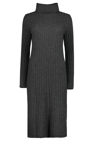 Turtle Neck Midi Dress