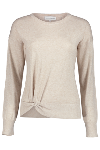Twisted Hem Crewneck Dark Natural