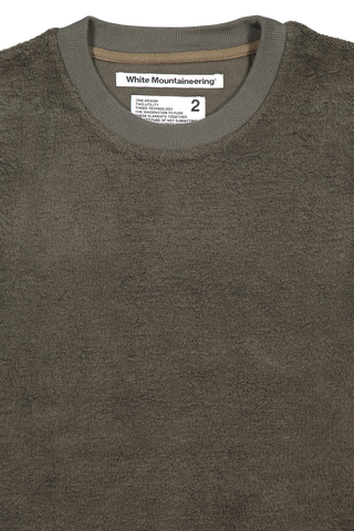 COTTON FLEECE BIG SWEATESHIRT KHAKI