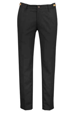 Front image of White Sand Brushed Chino Pant Black