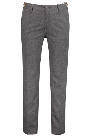 Front detail image of White Sand Brushed Chino Pant Grey
