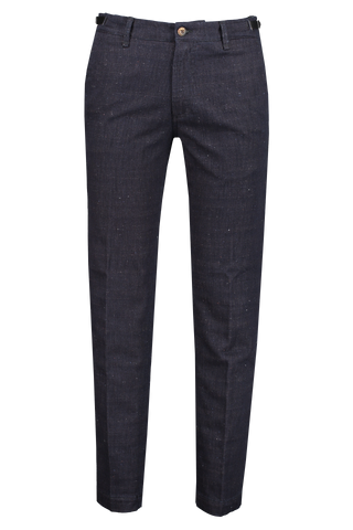 Front view image of White Sand Chino Pant Flecked Navy