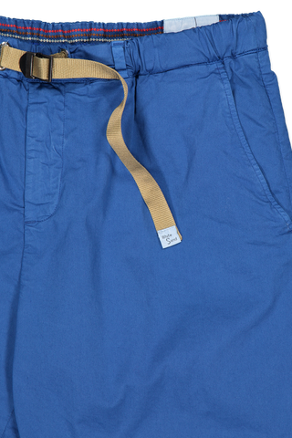 Waistline and tie detail image of White Sand Men's Grosgrain Shorts Cobalt