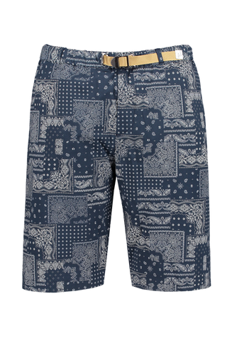Front view image of White Sand Men's Grosgrain Shorts Navy