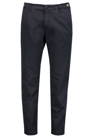 Front Image Of White Sand Solid Chino Pant Navy