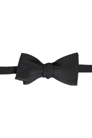 Front view image of Ermenegildo Zegna Men's Black Bow Tie