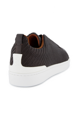 Back angled view image of Ermenegildo Zegna Brown Triple Stitch Sneaker