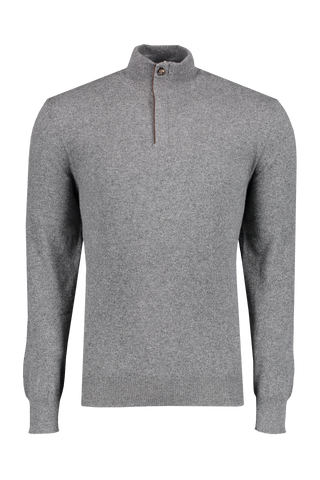 Front image of Ermenegildo Zegna Men's Cashmere 1/4 Zip Sweater