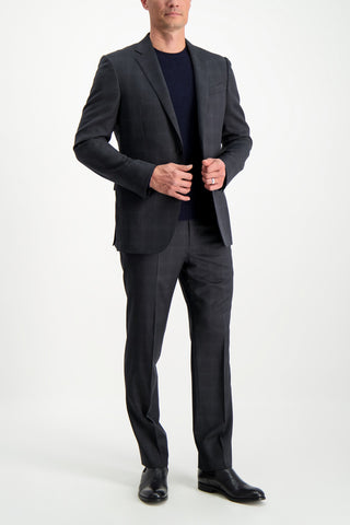 Full Body Image Of Model Wearing Ermenegildo Zegna Cashmere Crew Neck Sweater Navy