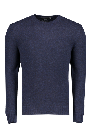 Front view image of Ermenegildo Zegna Cashmere Crew Neck Sweater Navy