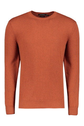 Front view image of Ermenegildo Zegna Cashmere Crew Neck Sweater Orange