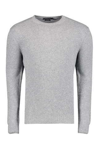Front view image of Ermenegildo Zegna Cashmere Crew Neck Sweater Light Grey