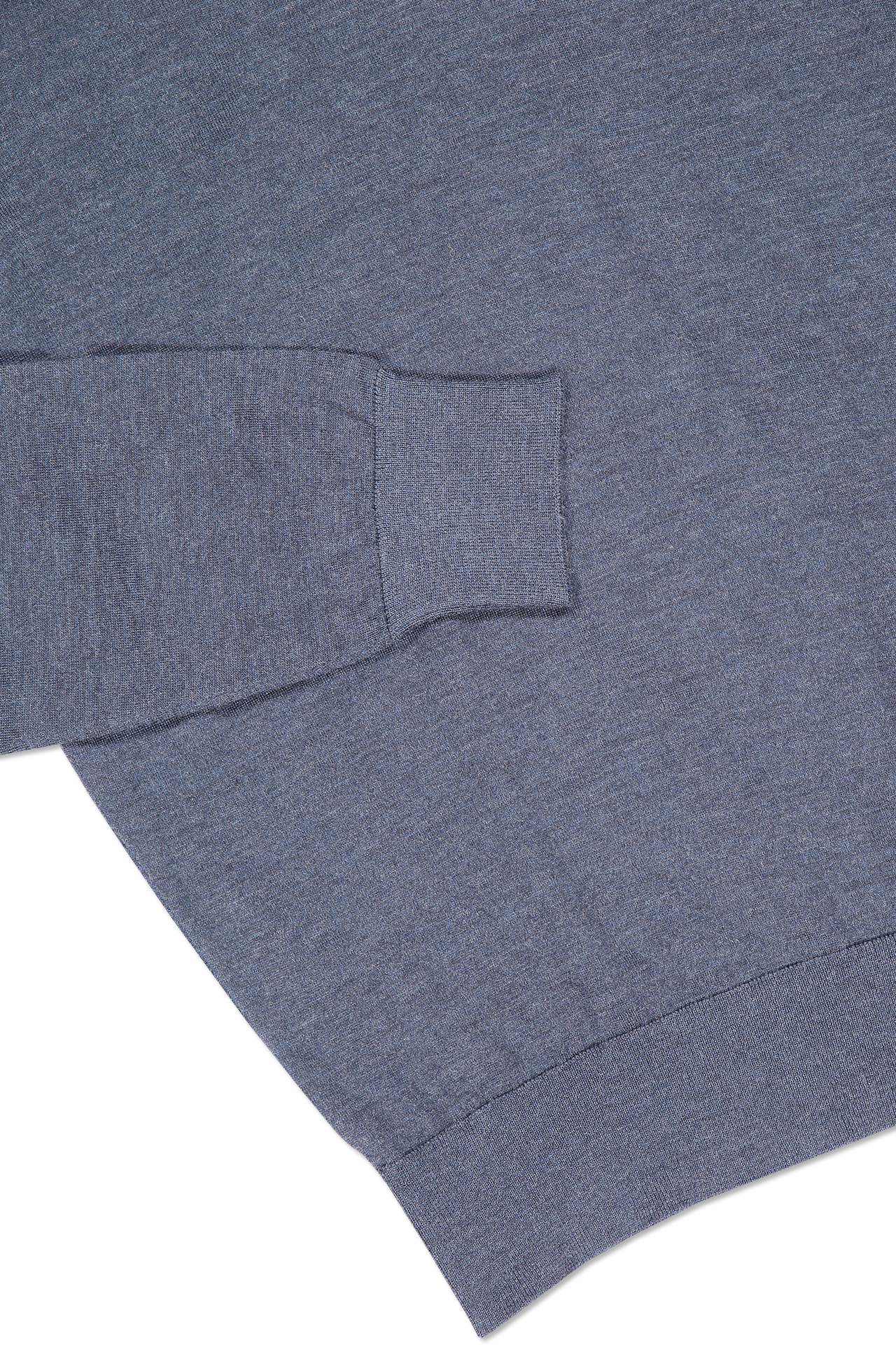Hemline and cuff detail image of Ermenegildo Zegna Cashseta Long Sleeve Polo Navy