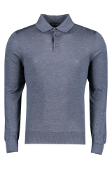Cashseta Long Sleeve Polo Navy