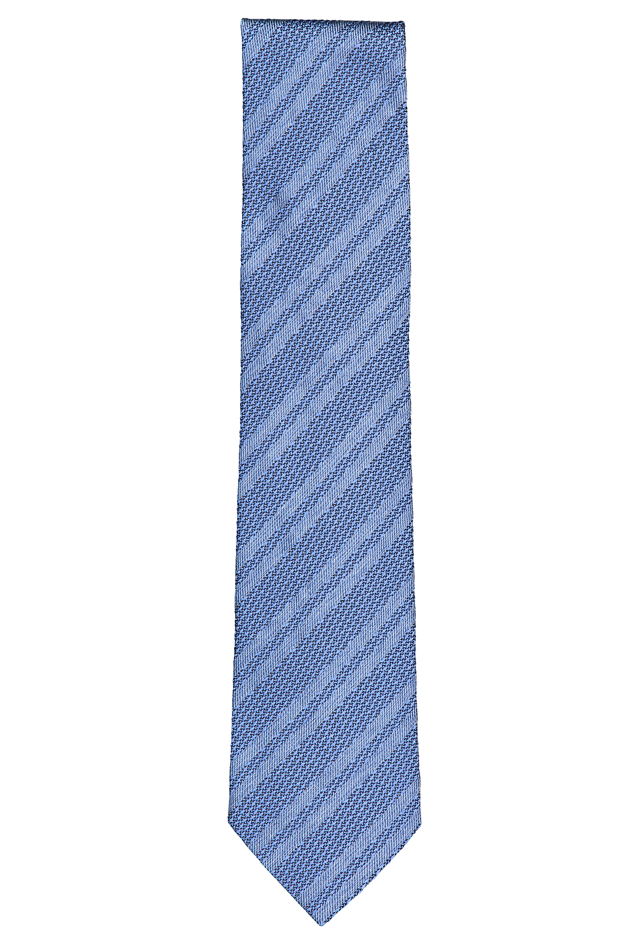 Front view image of Ermenegildo Zegna Double Stripe Tie Blue Jay