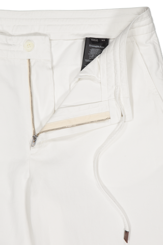 Zipper Detail Image Of Ermenegildo Zegna Garment Dyed Trouser