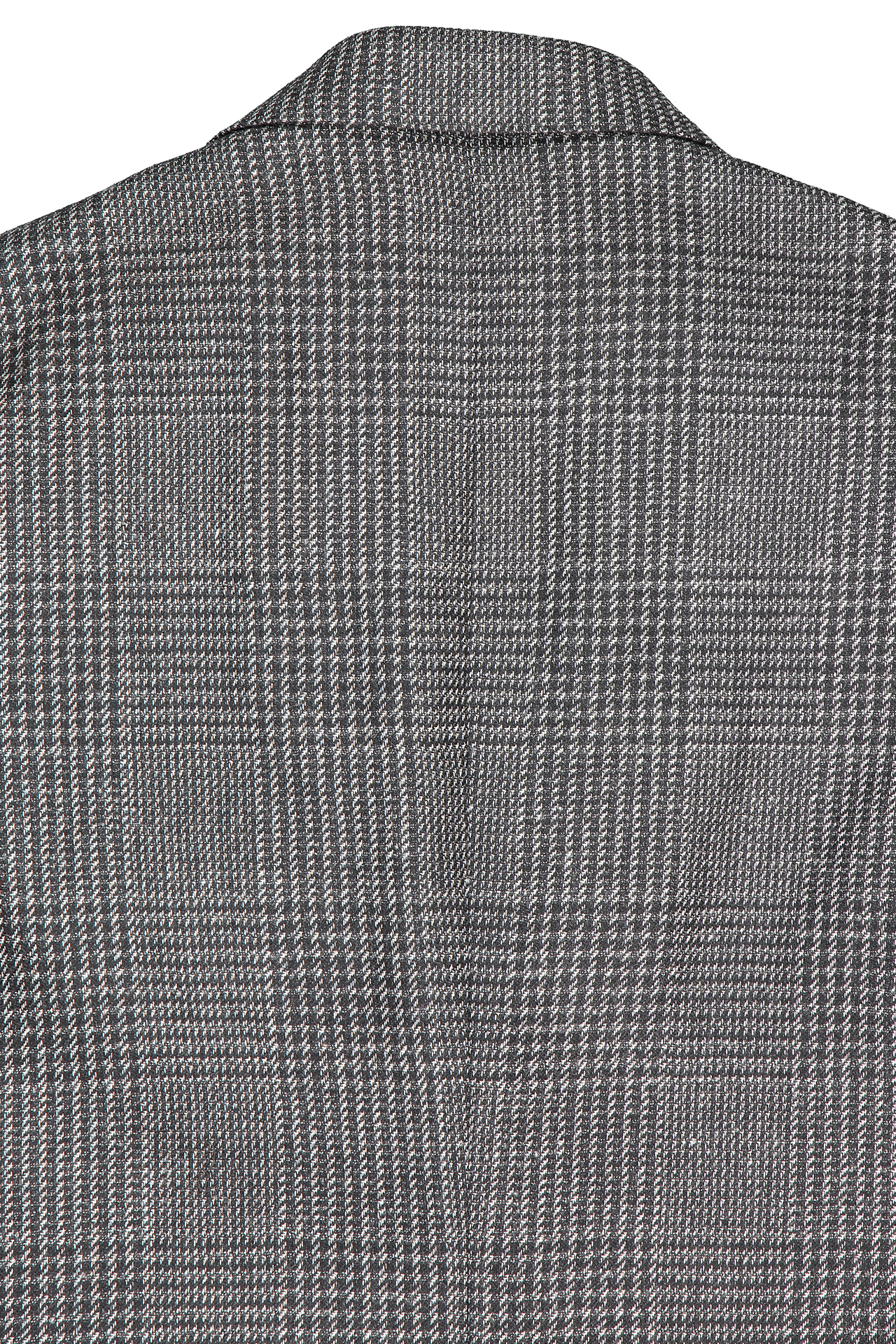 Back collar detail image of Ermenegildo Zegna Grey Plaid Sport Coat
