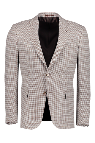 Houndstooth Jacket Brown