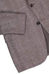 Hemline and sleeve detail image of Ermenegildo Zegna Large Plaid Milano Sportcoat
