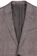 Front collar detail image of  Ermenegildo Zegna Large Plaid Milano Sportcoat