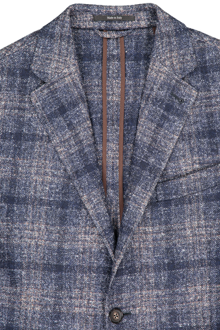 Large Plaid Sportcoat Navy