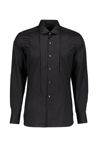 LS DRESS SHIRT PLEAT BLACK