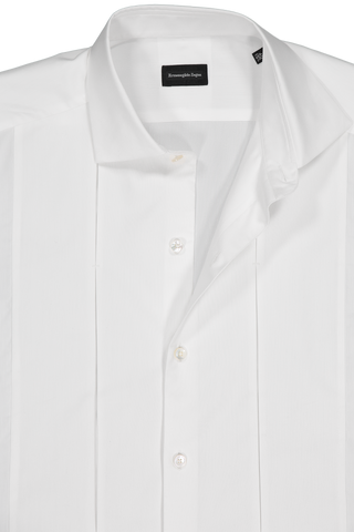 LS FORMAL SHIRT PLEAT WHITE