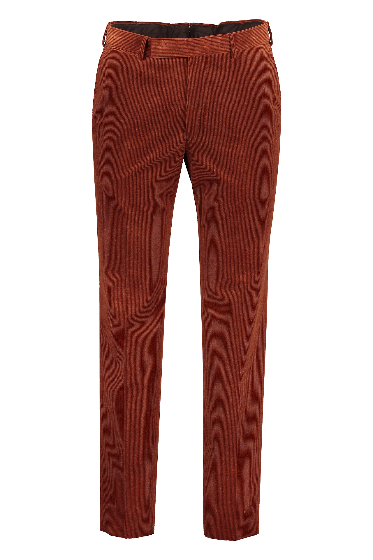 Front view of Ermenegildo Zegna Mini Cord Trouser Rust