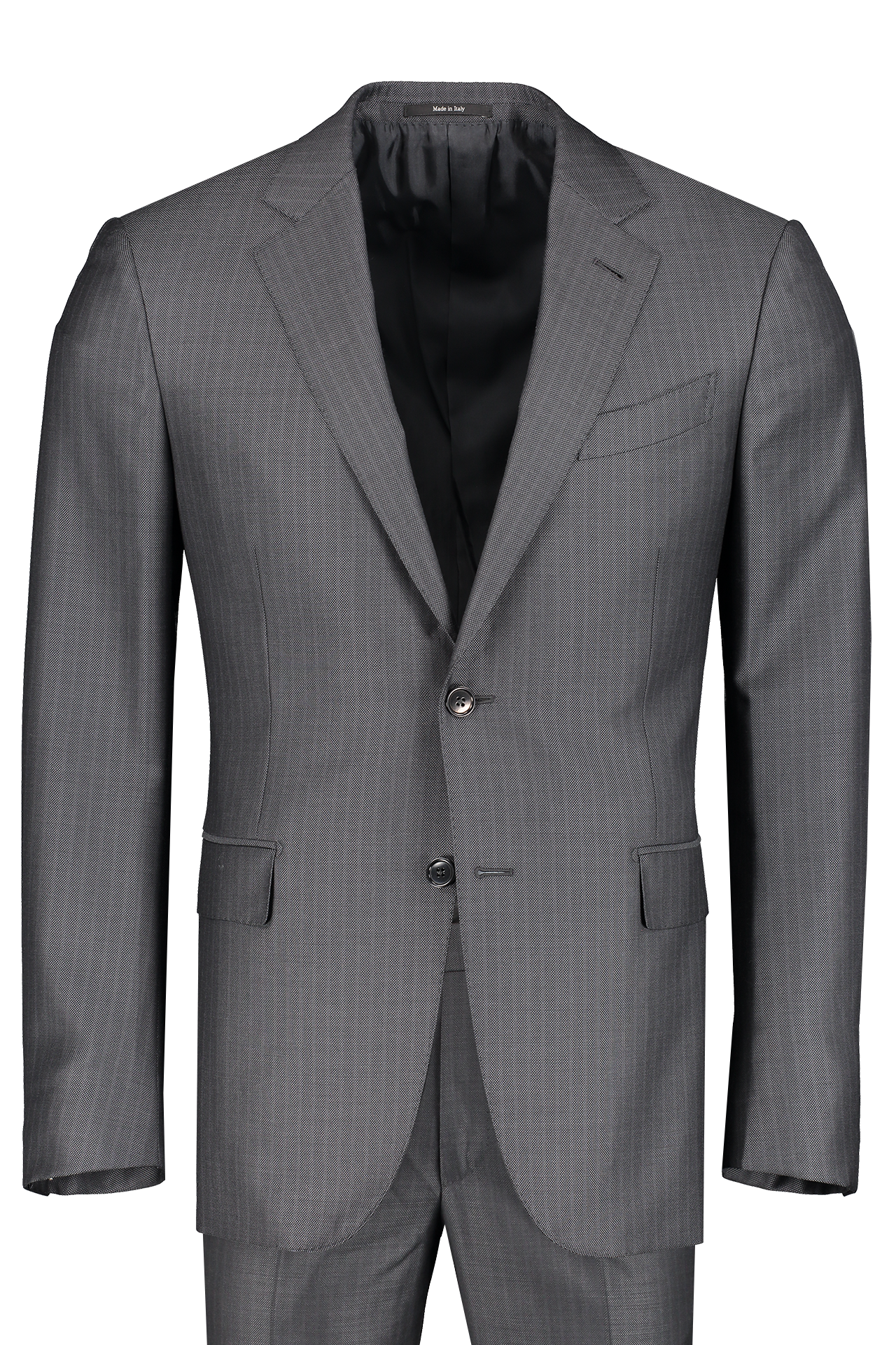 Front view image of Ermenegildo Zegna Multiseason Stripe Milano Suit Grey
