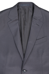 Lapel Detail Image Of Ermenegildo Zegna Multiseason Micro Check Milano Suit