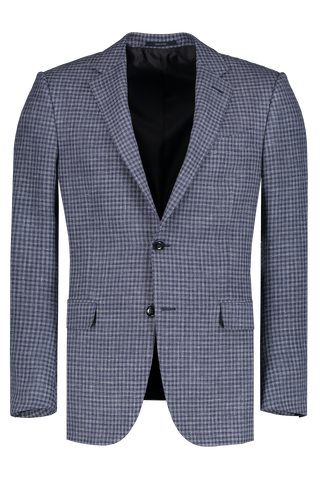 Navy Blue Check Sport Coat