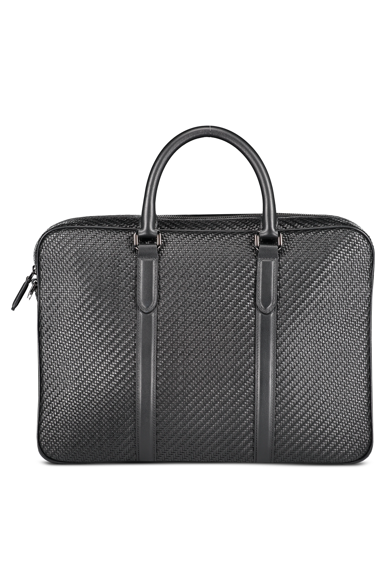 Front view image of Ermenegildo Zegna Pelle Tessuta Business Bag