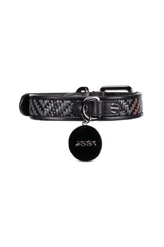 Pelle Tessuta Dog Collar