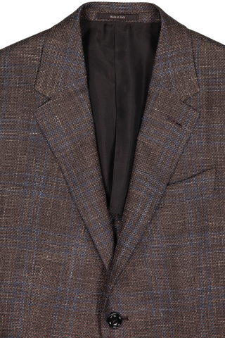 Lapel Detail Plaid Sportcoat