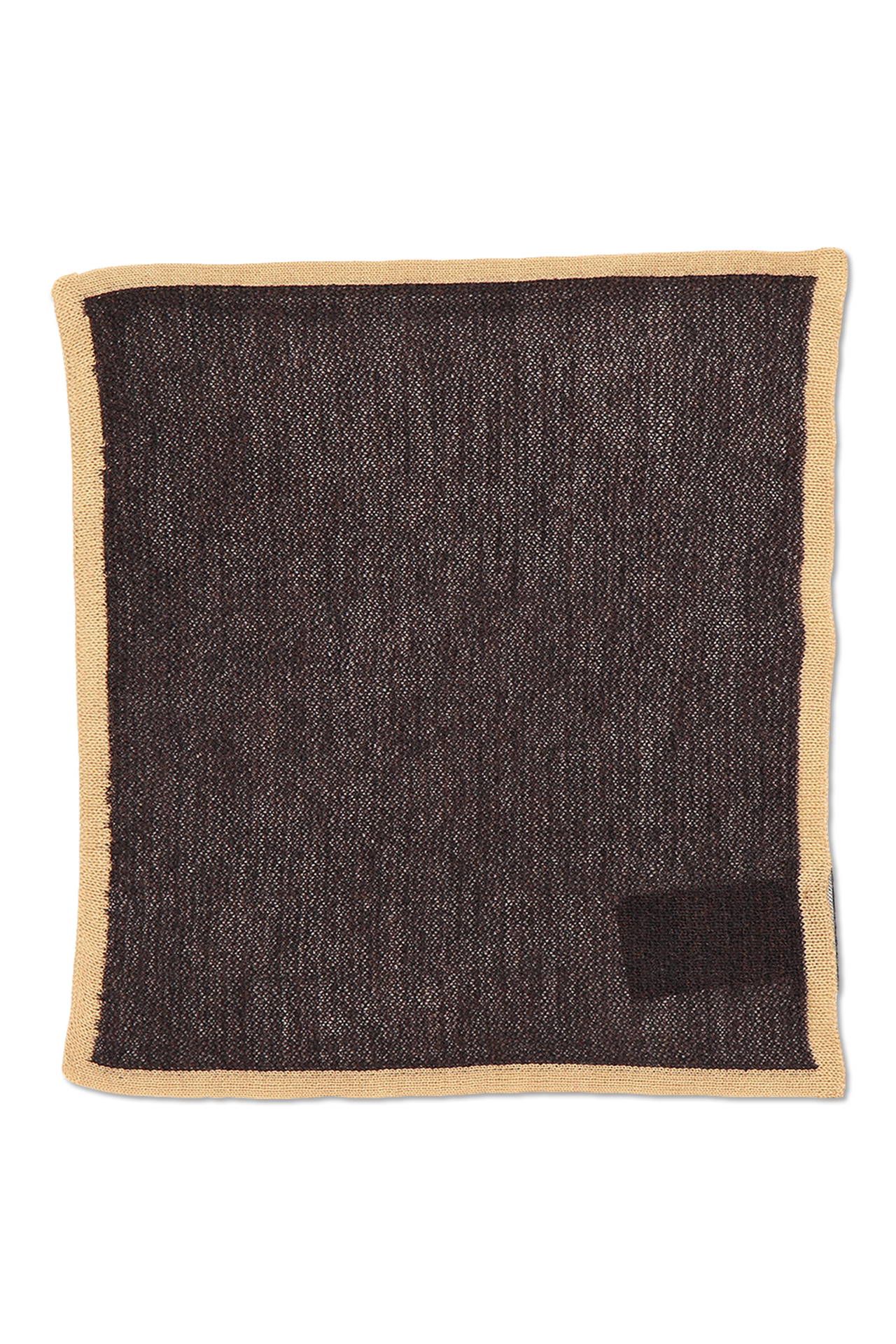 Ermenegildo Zegna Flat Lay Pocket Square Chocolate Brown