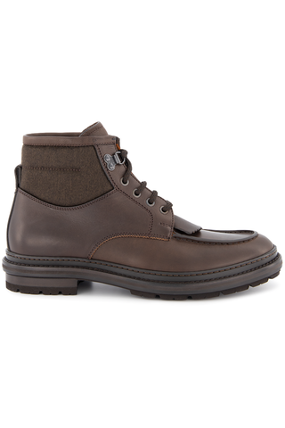 Side view image of Ermenegildo Zegna Roccia Flex Leather Hiking Boot