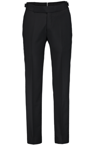SIDE TAB TUX TROUSER BLACK